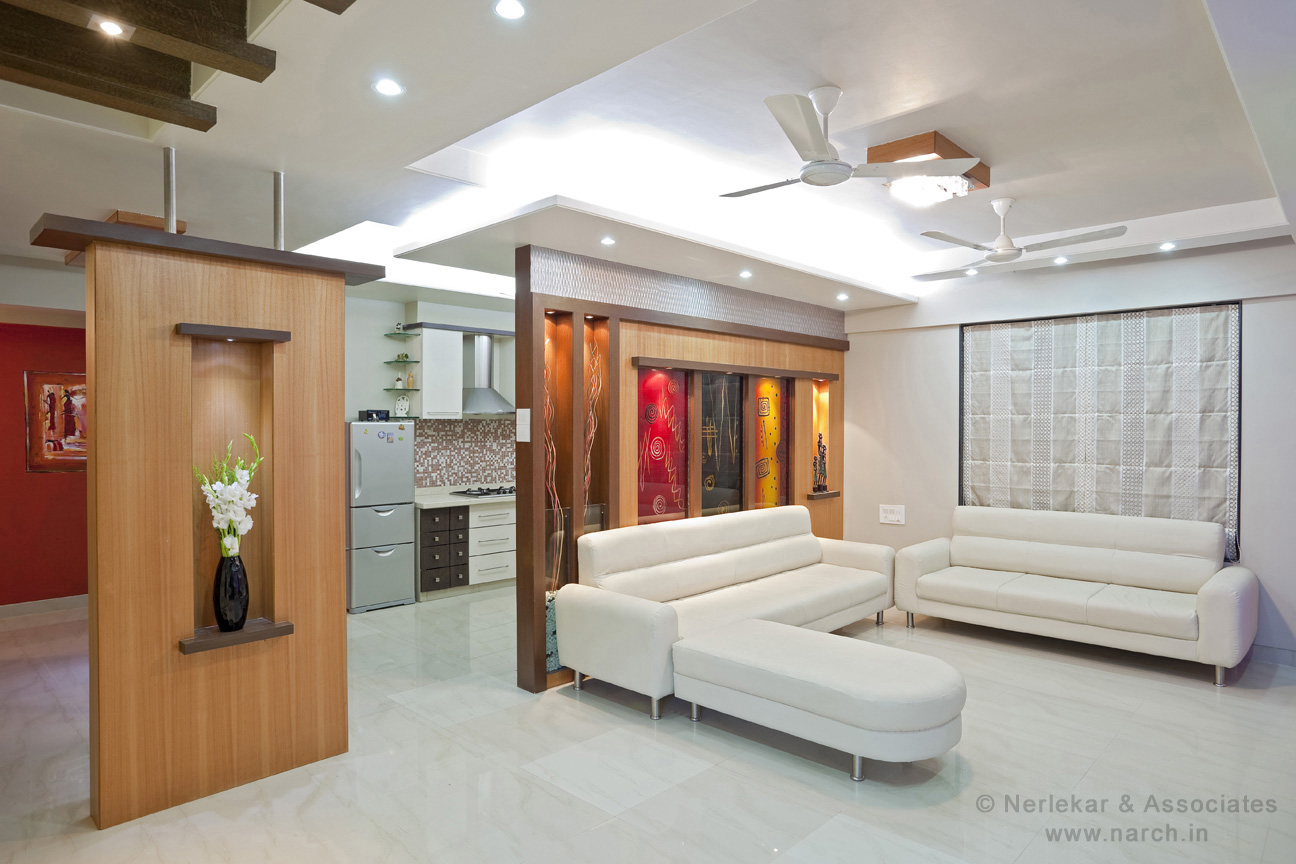 Best interior designer pune nerlekar interior designing for Residential living room interior design